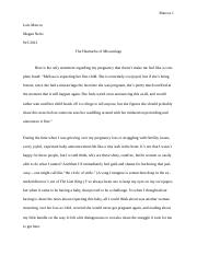 The Heartache of Miscarriage Essay.docx