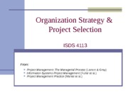 ISDS4113_Strategy_Proj_Selection_090611