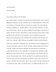 Power and Self Interest Essay