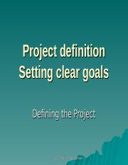 Class 2 Setting project goals.ppt