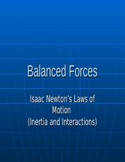Balanced Forces Slides.ppt