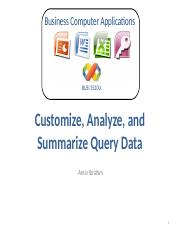 Customize, Analyze, and Summarize Query Data.pptx