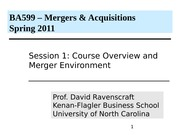 Class 1 MA BSBA 2011 Overview (1)