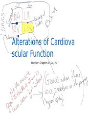 MOODLE Alterations of Cardiovascular Function