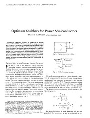 Optimum Snubbers for Power Semiconductors