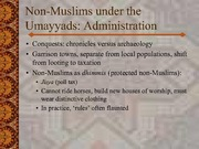 Non-Muslims Under the Umayyads