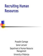 session 9 -Recruiting Human Resources.ppt
