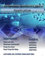 Graphene Synthesis and its Application