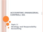 L02 Strategy and Responsibility Accounting 2012