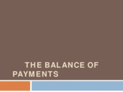 LEC II - THE BALANCE OF PAYMENTS