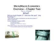Economics Chapter 2 Summer 2012