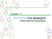 Chapter 11a Strategy of International Business