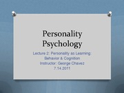 Lecture2.7.14.2011.PersonalityPsych.Summer2011