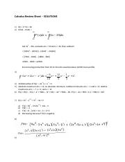 Calculus Review Sheet Solutions - revF16(1).docx