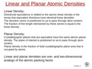 chap3.5 Linear and Planar densities