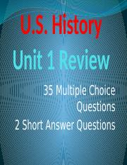 U.S. History Unit 1 Review.pptx