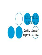 Lecture 11 - Decision Analysis(1)