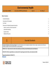 Unit 14 Environmental Health Study Guide