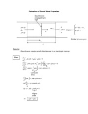 Aerodynamics Notes Derivation of Sound Wave Properties