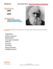 TRG-Darwin and Evolution Evidence 17-18.docx