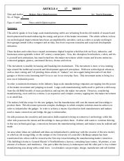 ARTICLE BRIEF 17