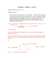 Worksheet Ch 4 - solutions