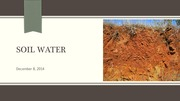 Lecture 21 Soil water