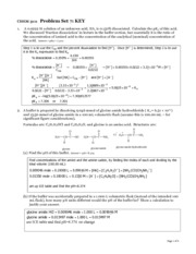 CHEM 3111 Problem set 7 KEY