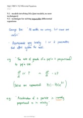 Math 1200 9.1 9.3 Differential Equations