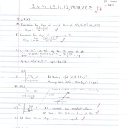 CALCULUS HOMEWORK (equations of the line)