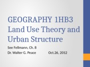 1HB3 Lecture 13 Land Use Theory