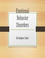 Emotional Behavior Disorders PPT.pptx