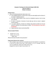 Quiz 6 and Solutions