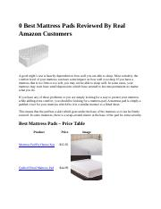 0 Best Mattress Pads Reviewed By Real Amazon Customers.docx