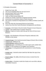 General Rules in Economics 1