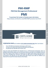 207708410-PMI-RMP-Exam-Questions-Free-PDF-Demo
