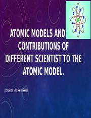 atomic models and the contributions of different scientist.pptx