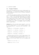Topic 4 - Complex Numbers Lecture Material