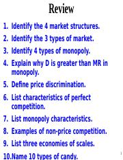 list the five characteristics of perfect competition