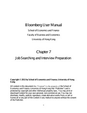 Bloomberg User Manual Chapter Seven