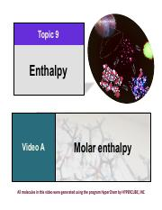 104 Topic 9 Enthalpy All