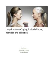 Implications of aging for individuals.week2 plunkett.o