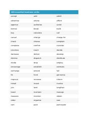 100 essential business verbs