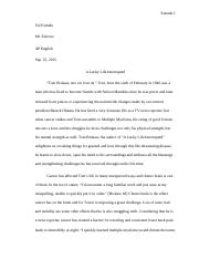 Summer Reading Essay