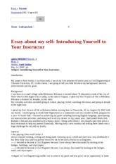 essay about my self introducing yourself to your instructor this is the end of the preview sign up to access the rest of the document