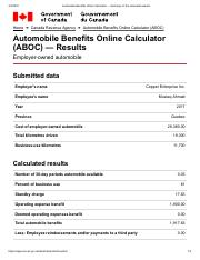 Automobile Benefits Online Calculator — Summary of the calculated results.pdf