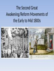 Reform and Slavery in the Early to Mid 1800s