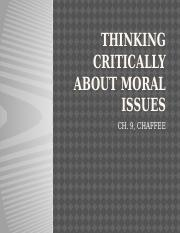 THINKING CRITICALLY ABOUT MORAL ISSUES.pptx