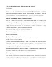 CONTINUAL IMPROVEMENT IN POLLUTION PREVENTION.docx