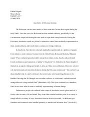 Dallas Auschwitz research paper.docx